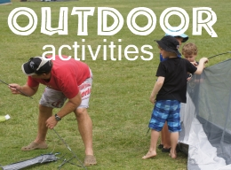 Families Involved in Outdoor Activities